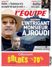 capa Jornal L'Équipe de 15 julho 2020