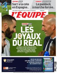 capa Jornal L'Équipe de 17 julho 2020