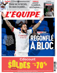capa Jornal L'Équipe de 18 julho 2020
