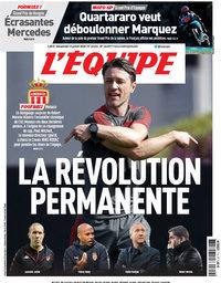 capa Jornal L'Équipe de 19 julho 2020