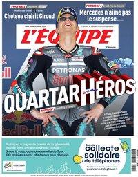 capa Jornal L'Équipe de 20 julho 2020