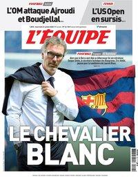 capa Jornal L'Équipe de 22 julho 2020