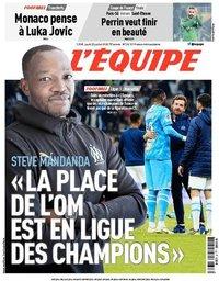 capa Jornal L'Équipe de 23 julho 2020