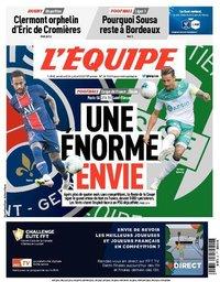 capa Jornal L'Équipe de 24 julho 2020