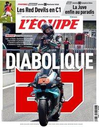 capa Jornal L'Équipe de 27 julho 2020