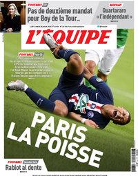 capa Jornal L'Équipe de 28 julho 2020