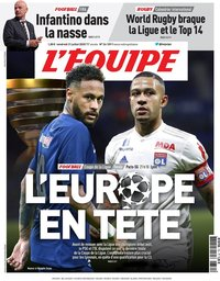 capa Jornal L'Équipe de 31 julho 2020