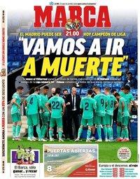 capa Jornal Marca de 16 julho 2020