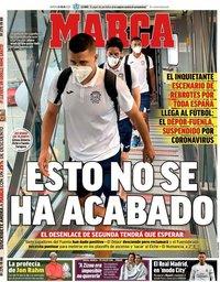 capa Jornal Marca de 21 julho 2020