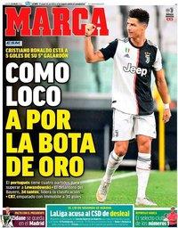 capa Jornal Marca de 23 julho 2020