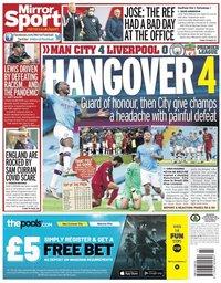 capa Jornal Mirror Sport de 3 julho 2020