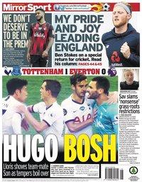 capa Jornal Mirror Sport de 7 julho 2020