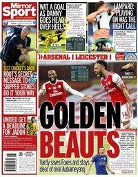 capa Jornal Mirror Sport de 8 julho 2020