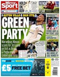 capa Jornal Mirror Sport de 10 julho 2020