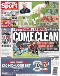 capa Jornal Mirror Sport de 11 julho 2020