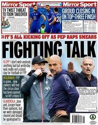 capa Jornal Mirror Sport de 15 julho 2020