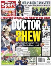 capa Jornal Mirror Sport de 17 julho 2020