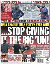 capa Jornal Mirror Sport de 24 julho 2020