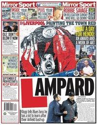 capa Jornal Mirror Sport de 25 julho 2020