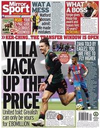 capa Jornal Mirror Sport de 28 julho 2020