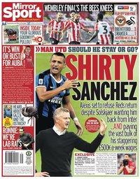 capa Jornal Mirror Sport de 30 julho 2020