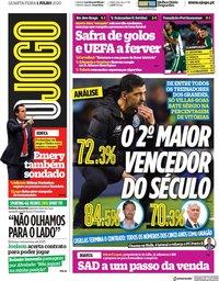 capa Jornal O Jogo de 1 julho 2020