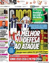 capa Jornal O Jogo de 4 julho 2020