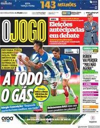 capa Jornal O Jogo de 6 julho 2020