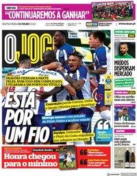 capa Jornal O Jogo de 10 julho 2020