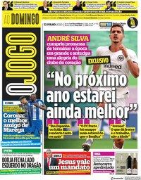 capa Jornal O Jogo de 12 julho 2020