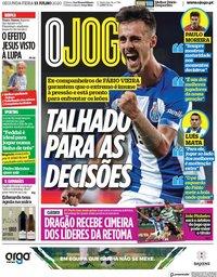 capa Jornal O Jogo de 13 julho 2020