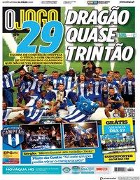 capa Jornal O Jogo de 16 julho 2020