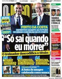 capa Jornal O Jogo de 17 julho 2020