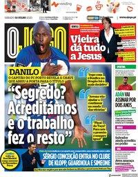 capa Jornal O Jogo de 18 julho 2020