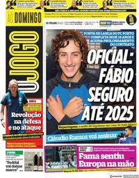 capa Jornal O Jogo de 19 julho 2020