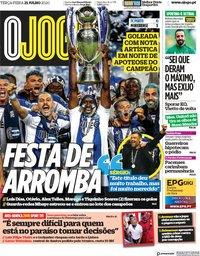 capa Jornal O Jogo de 21 julho 2020