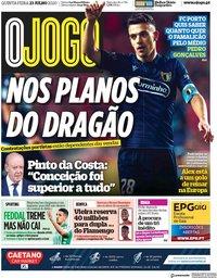 capa Jornal O Jogo de 23 julho 2020