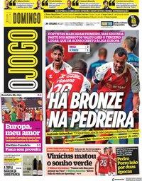 capa Jornal O Jogo de 26 julho 2020