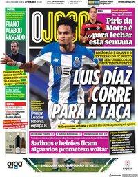 capa Jornal O Jogo de 27 julho 2020