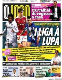 capa Jornal O Jogo de 28 julho 2020