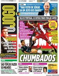 capa Jornal O Jogo de 30 julho 2020