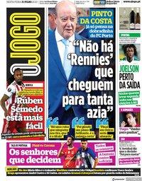 capa Jornal O Jogo de 31 julho 2020