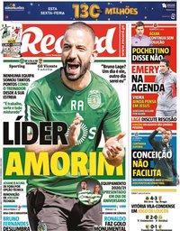 capa Jornal Record de 1 julho 2020