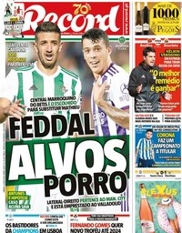 capa Jornal Record de 4 julho 2020