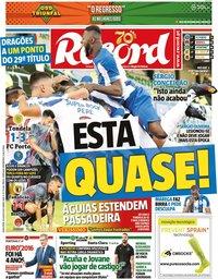 capa Jornal Record de 10 julho 2020