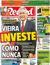 capa Jornal Record de 12 julho 2020