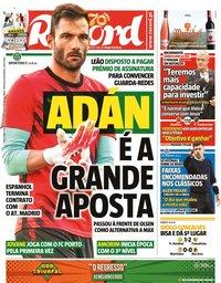 capa Jornal Record de 14 julho 2020