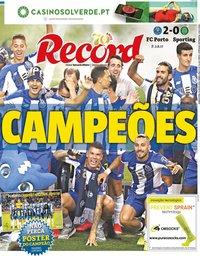 capa Jornal Record de 16 julho 2020