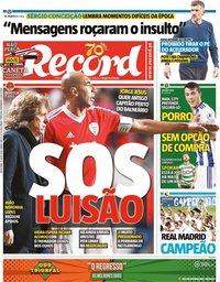 capa Jornal Record de 17 julho 2020