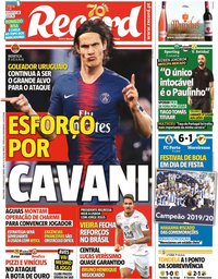 capa Jornal Record de 21 julho 2020